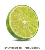 Lime Isolated On White...