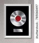 platinum lp record in white... | Shutterstock .eps vector #785060497