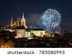 New Years Fireworks In Prague...