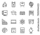 school and education icons... | Shutterstock .eps vector #785094433
