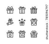 gift  present  surprise vector... | Shutterstock .eps vector #785096797