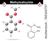 methyl salicylate chemical... | Shutterstock .eps vector #785103757