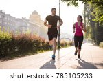 urban sports  healthy young... | Shutterstock . vector #785105233