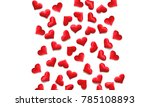 red hearts background on white  ... | Shutterstock . vector #785108893