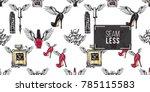 hand drawn fashion woman...   Shutterstock .eps vector #785115583