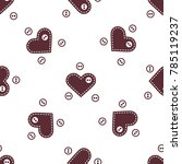 cute seamless pattern with... | Shutterstock .eps vector #785119237