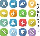 flat vector icon set   pointer... | Shutterstock .eps vector #785128417