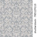 vector baroque ornament pattern ... | Shutterstock .eps vector #785129113