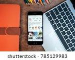 chiang mai  thailand   dec 23... | Shutterstock . vector #785129983