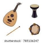 set of arabic oriental musical... | Shutterstock .eps vector #785136247
