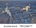 Small photo of LINDEN, NJ -1 JAN 2018- Aerial view of the Linden Generation Station (Co-Gen), a power plant next to the New Jersey Turnpike.