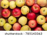 fresh fruits on background.... | Shutterstock . vector #785143363