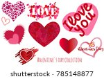 valentine's day collection. a... | Shutterstock .eps vector #785148877
