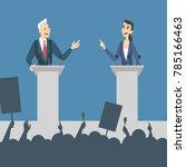 political debates illustration. ... | Shutterstock .eps vector #785166463