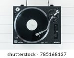 turntable vinyl record player... | Shutterstock . vector #785168137