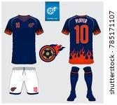 soccer jersey  football kit  t... | Shutterstock .eps vector #785171107