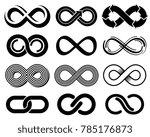 infinity symbols. mobius loop... | Shutterstock . vector #785176873
