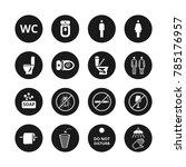 public toilet icons. wc... | Shutterstock . vector #785176957