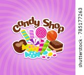 sugar sweets background with... | Shutterstock . vector #785177263