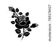 silhouette of a rose. vector... | Shutterstock .eps vector #785178427