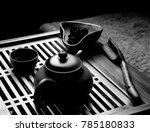 chinese black tea ceremony    Shutterstock . vector #785180833