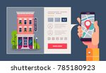 design concept of hotel search... | Shutterstock .eps vector #785180923