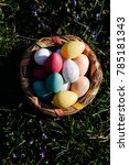 easter eggs in basket | Shutterstock . vector #785181343