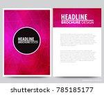 abstract vector modern flyers ... | Shutterstock .eps vector #785185177