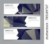 abstract geometric banners | Shutterstock .eps vector #785189767