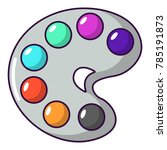 palette icon. cartoon...