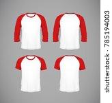 men's slim fitting short sleeve ... | Shutterstock .eps vector #785194003