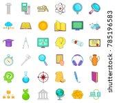 university icons set. cartoon... | Shutterstock .eps vector #785196583
