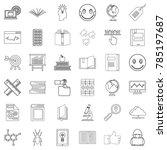 seminar icons set. outline... | Shutterstock .eps vector #785197687