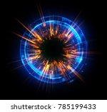 abstract background. luminous... | Shutterstock . vector #785199433
