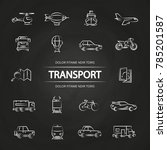 transport line icons collection ...