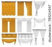 golden and white velvet silk... | Shutterstock .eps vector #785214547