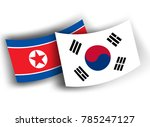 south korea and north korea... | Shutterstock .eps vector #785247127