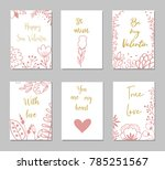 decorative greeting cards for... | Shutterstock .eps vector #785251567