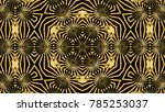 abstract background with gold... | Shutterstock . vector #785253037
