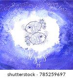 astrology sign pisces | Shutterstock .eps vector #785259697