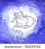 astrology sign aries  | Shutterstock .eps vector #785259703