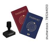 vector illustration passport ....   Shutterstock .eps vector #785264053