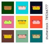 set pixel icons hot dog | Shutterstock .eps vector #785266777