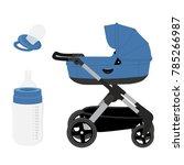 vector illustration blue baby... | Shutterstock .eps vector #785266987