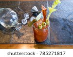 bloody mary or ceasar with...   Shutterstock . vector #785271817