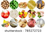 basic food  meat dairy fish... | Shutterstock . vector #785272723