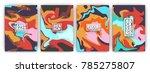 creative fluid style flyer... | Shutterstock .eps vector #785275807