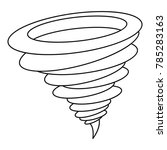 tornado icon. outline... | Shutterstock .eps vector #785283163