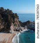 big sur waterfall and view of... | Shutterstock . vector #785287063