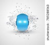 futuristic modern style machine ...   Shutterstock .eps vector #785288563
